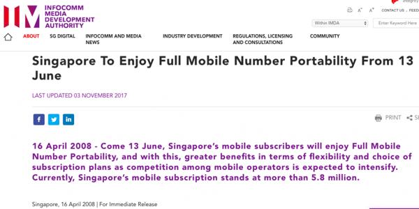IMDA full mobile number portability