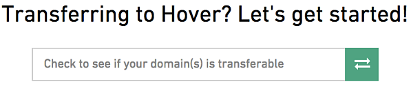 Transferring to Hover?