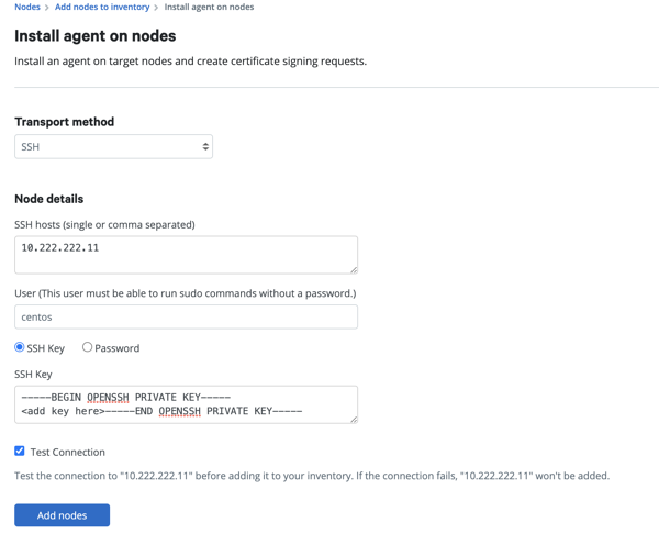 Add node details