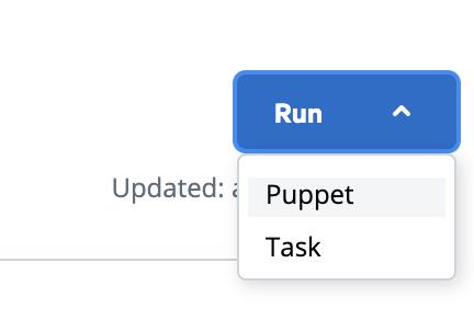 Run puppet run