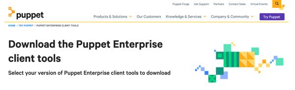 Download Puppet Enterprise client tools