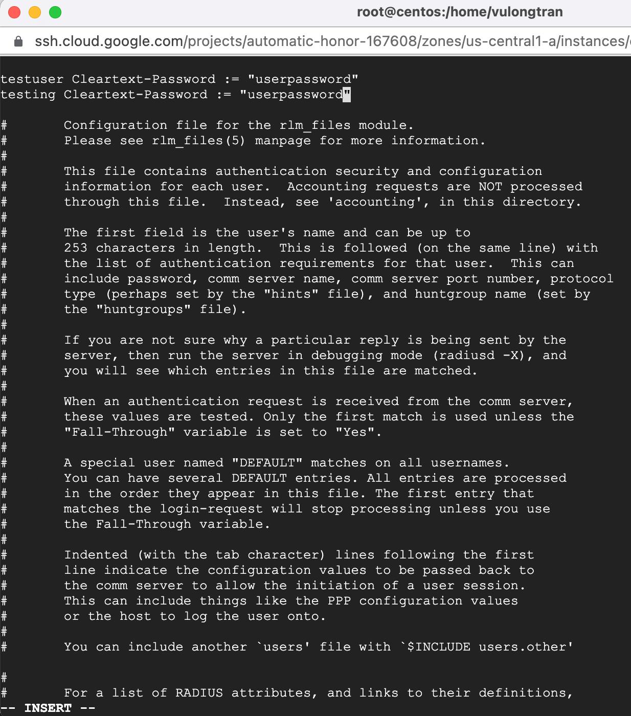 freeradius-user-file-testuser