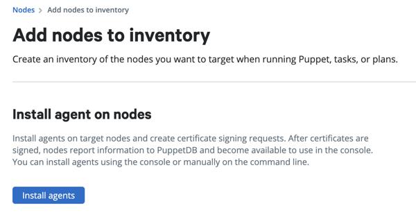 Install nodes