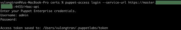 Puppet access login success