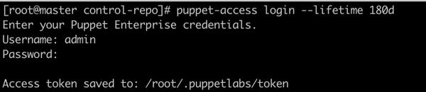 Puppet access token
