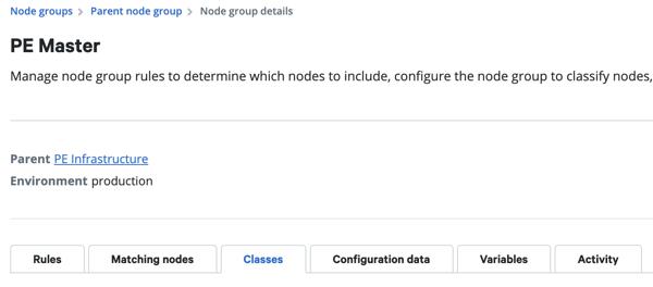 Puppet node group class