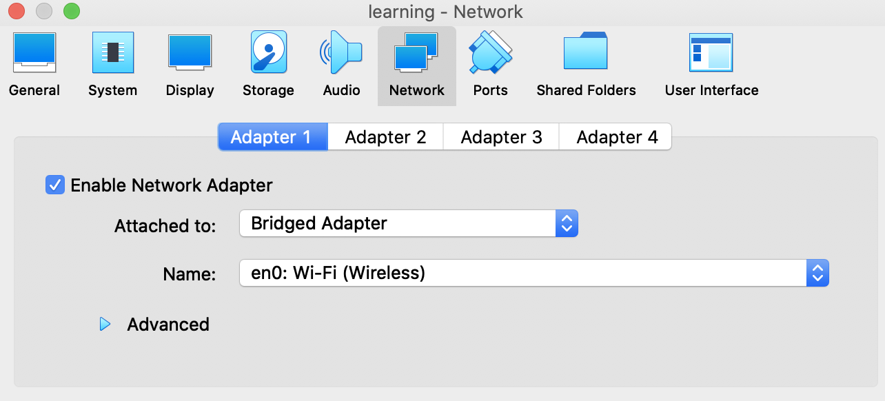 puppet-learning-vm-quest-network-settings